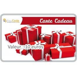 Carte cadeau valeur 10 €