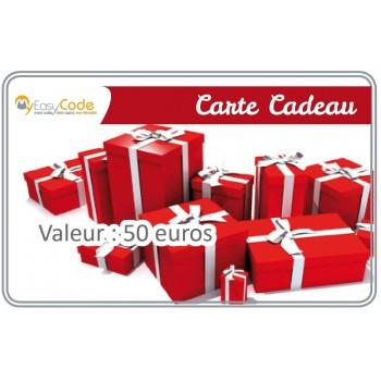 Carte cadeau valeur 50 €